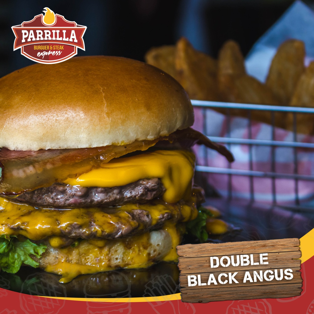 Hamburguesa doble black angus