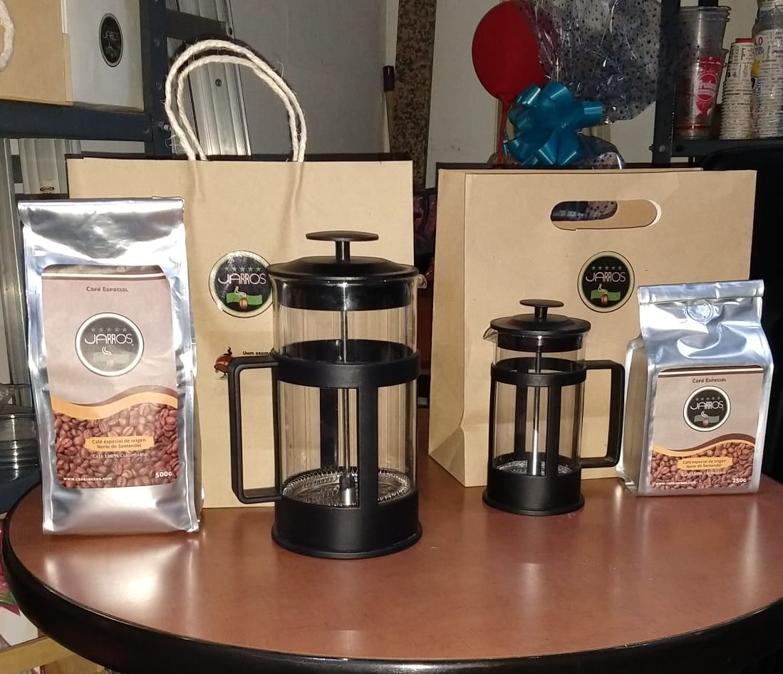 KIT PRENSA FRANCESA + CAFE ESPECIAL